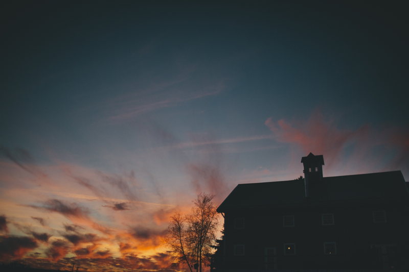 Sunset at The Barn at Harvest Moon Pond