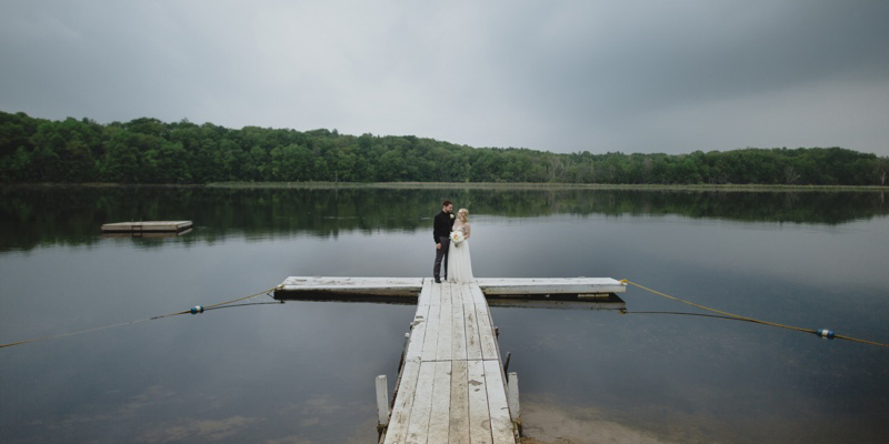Intimate Wedding on Lake